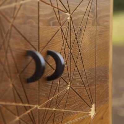 Fumed Oak Cabinet Detail Handles - Tom Foottit Contemporary Carpentry